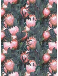 """Бумага для декопатч """"Розовый лотос в листьях"""", Decopatch (Франция), 30х40 см"""