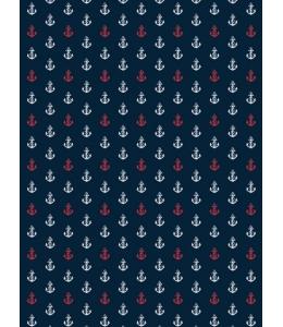 """Бумага для декопатч """"Якоря на темно-синем"""", Decopatch (Франция), 30х40 см"""