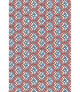 """Бумага для декопатч """"Цветочный веер на красном"""", Decopatch (Франция), 30х40 см"""