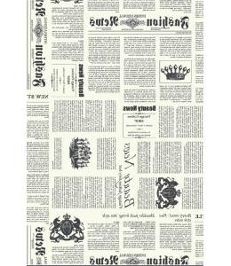 """Бумага для декопатч """"Типографский текст черно-белый"""", Decopatch (Франция), 30х40 см"""