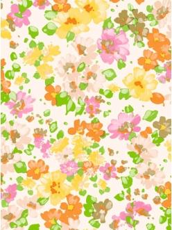 Бумага для декопатч Акварельные цветы, Decopatch