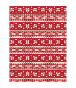 """Бумага для декопатч 672 """"Рождественские узоры"""", Decopatch (Франция), 30х40 см"""