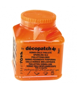Клей-лак с золотыми блёстками для декопатча Decopatch Paper Patch (Франция), 150 гр