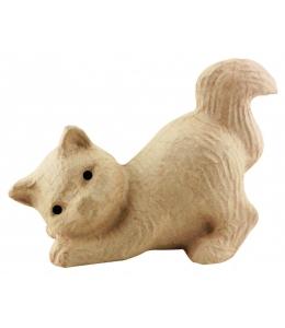 Заготовка фигурка из папье-маше Котенок, 10,5х15х20 см, Decopatch (Франция)