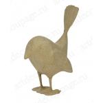 Заготовка фигурка из папье-маше Птичка хвостик вверх, 13х8х16 см, Decopatch (Франция)