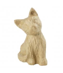 Заготовка фигурка из папье-маше Кошечка, 13х14х15,5 см, Decopatch (Франция)