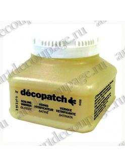 Лак защитный глянцевый для декупажа и декопатча Decopatch AquaPro Satine №1, 90 мл