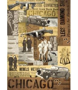 "Декупажная карта Stamperia DFG381 ""Chicago"", 50х70см"