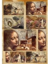 "Декупажная карта Stamperia DFG393 ""Живопись Леонардо"", 50х70 см"