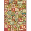 """Декупажная карта Stamperia DFG437 """"Рождественские цифры"""", 50х70 см"""