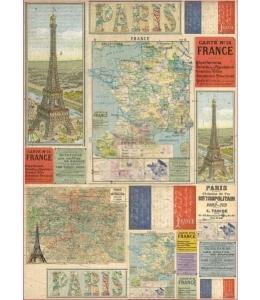 """Декупажная карта Stamperia DFG442 """"Карта Франции"""", 50х70 см"""