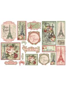 """Декупажная карта матовая Stamperia DFGS018 """"Париж"""", 33х48 см"""