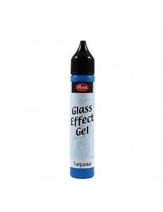Гель с эффектом стекла Viva-Glaseffekt-Gel, цвет 650 бирюзовый, 25 мл