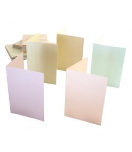 Набор заготовок для открыток с конвертами, 10,5х14,9 см, перламутровый 5 цветов, 50 шт, Anita's