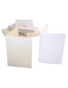 Набор заготовок для открыток с конвертами, 10,5х14,8 см, кремовый перламутровый, 50 шт, Anita's