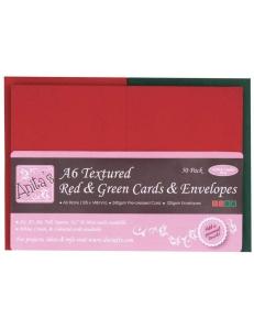"""Набор заготовок для открыток с конвертами """"Цвет Рождества"""", 10,5х14,8 см, Docrafts"""