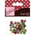 """Бубенчики рождественские разноцветные """"Jingle Bells"""", металл, 30 шт, Anita`s"""
