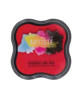 Штемпельная подушка пигментная Pigment Ink Pad DOA550100, цвет красный, Docrafts (Великобритания)