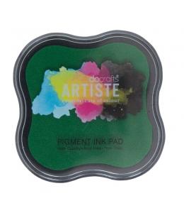 Штемпельная подушка пигментная Pigment Ink Pad DOA550101, цвет зеленый, Docrafts (Великобритания)