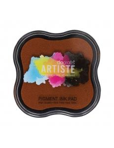 Штемпельная подушка пигментная Pigment Ink Pad DOA550102, цвет коричневый, Docrafts (Великобритания)