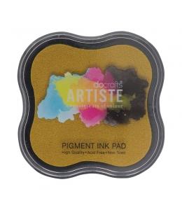 Штемпельная подушка пигментная Pigment Ink Pad DOA550103, цвет темно-желый, Docrafts (Великобритания)