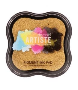 Штемпельная подушка пигментная Pigment Ink Pad DOA550110, золотой металлик, Docrafts (Великобритания)