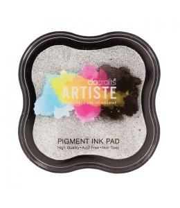 Штемпельная подушка пигментная Pigment Ink Pad DOA550111, серебристый металлик, Docrafts (Великобритания)