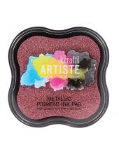 Штемпельная подушка пигментная Pigment Ink Pad DOA550121, ягодный красный металлик, Docrafts (Великобритания)