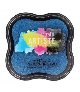 Штемпельная подушка пигментная Pigment Ink Pad DOA550123, синий металлик, Docrafts (Великобритания)
