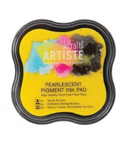 Штемпельная подушка пигментная Pigment Ink Pad DOA550124, желтый перламутр, Docrafts (Великобритания)