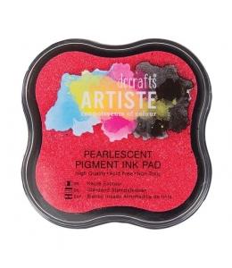 Штемпельная подушка пигментная Pigment Ink Pad DOA550126, мягкий розовый перламутр, Docrafts (Великобритания)