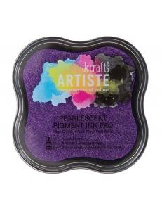 Штемпельная подушка пигментная Pigment Ink Pad DOA550127, фиолетовый перламутр, Docrafts (Великобритания)