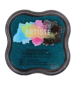 Штемпельная подушка пигментная Pigment Ink Pad DOA550128, аквамарин перламутр, Docrafts (Великобритания)