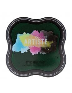 Штемпельная подушка Dye Ink Pad быстросохнущая, цвет зеленый, Docrafts (Великобритания)