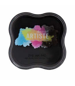 Штемпельная подушка Dye Ink Pad быстросохнущая, цвет черный, Docrafts (Великобритания)