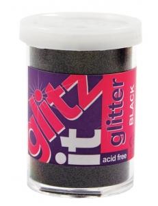 Микроблестки GLITZ IT черные, 28 мл, Docrafts (Великобритaния)