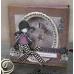 Набор декоративных цветов с блестками и стразами, Bexley Black, 50 шт.