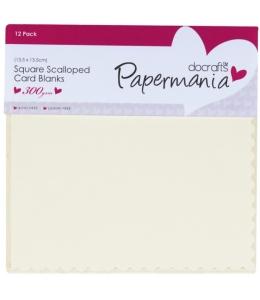 Набор заготовок для открыток с конвертами Зубчатый край кремовый, 13,5х13,5 см
