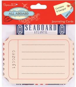 "Набор карточек для журналинга, коллекция ""All Aboard"", 24 шт, Papermania"