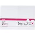 Набор заготовок для открыток с конвертами, 12,7х17,8 см, белый, 50 шт, Papermania