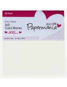 Набор заготовок для открыток с конвертами, цвет кремовый, 7,6х7,6 см, Papermania