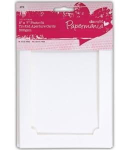 Набор заготовок для открыток с фоторамкой и конвертами, 12,7х17,8 см, 4 шт, DoCrafts