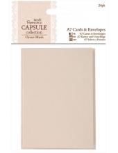 Набор заготовок для открыток с конвертами Oyster Blush, 20 шт, 7,5х10,5 см, Papermania