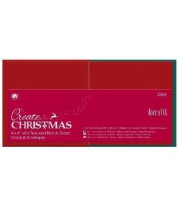 """Набор заготовок для открыток с конвертами """"Цвет Рождества"""" 10,2х10,2 см, Anita's"""