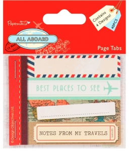 Набор бирок для скрапбукинга Заметки путешественника, коллекция All Aboard, 40 шт., Papermania