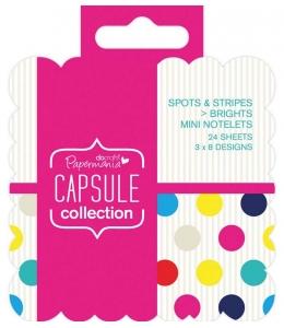 Набор высечки и карточек для журналинга Spots & Stripes Brights, 24 штуки, DoCrafts