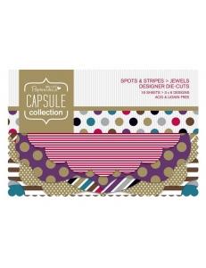 Набор высечки фигурной для скрапбукинга Spots & Stripes Jewels, 18 штук, Papermania
