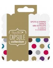 Набор высечки и карточек для журналинга Spots & Stripes Jewels, 20 штук, DoCrafts