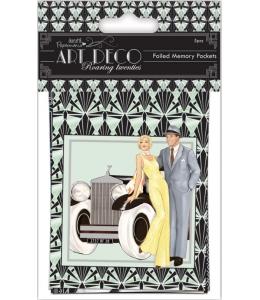 Набор мини конвертов для скрапбукинга, коллекция Art Deco, 5 шт., DoCrafts