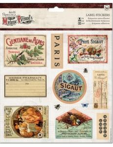 Набор стикеров для скрапбукинга Madame Payraud, 12 шт, Papermania